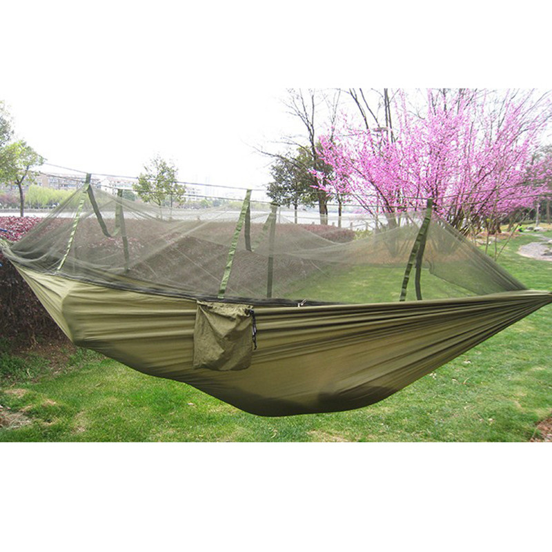 Parachute Fabric Hammock Portable High Strength Mosquito Net Outdoor Camping цена