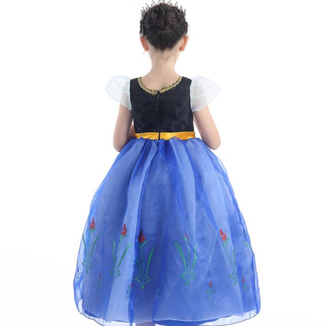 Elsa Robe Pour Filles Princesse Anna Parti Cosplay Costume De Pâques Carnaval Fantasia Enfants Vêtements snow Queen Enfants Vêtements