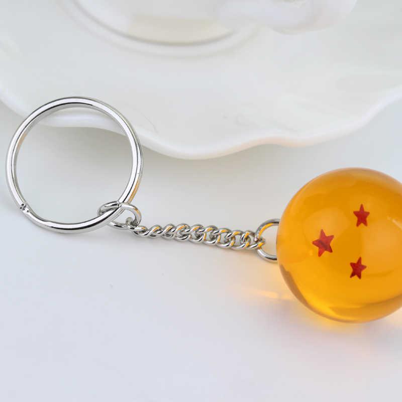 Populer Kartun Jepang Seri Dragon Ball Gantungan Kunci Perhiasan Lima Menunjuk Bintang Bulat Gantungan Kunci Liontin Mobil Hadiah Aksesoris