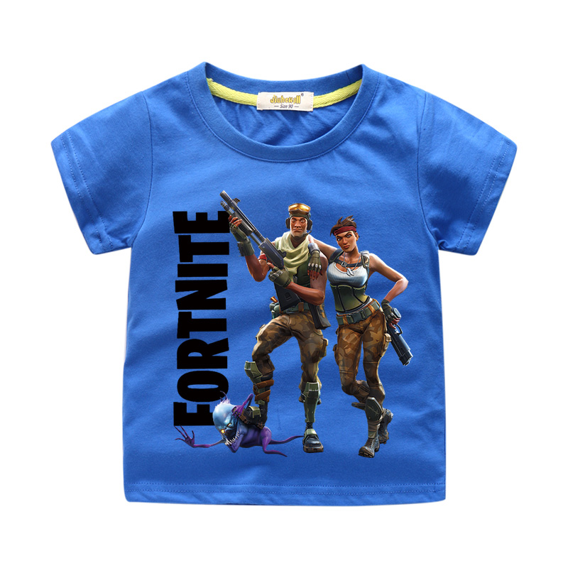 Children Summer 3D Fortnite Print T-shirt Clothing For Kids Short Tee Tops Clothes Boy Girls Tshirt Baby T Shirts Costume WJ003