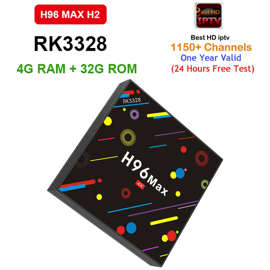 1 Year French Arabic Europe IPTV Box H96 MAX H2 1150+ Android 7.1 Smart TV Box DDR3 4G/32G RK3328 WiFi H.265 HD 4K Media Player 1150 channels free iptv ip s2 plus smart tv box dvb s2 satellite receiver hd full 1080p 1 year europe arabic italian smart iptv