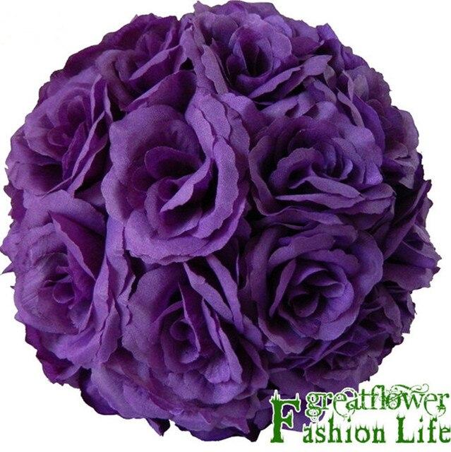 Wholesale Sale 8 20 Cm Silk Flowers Weddings Red Kissing Balls