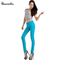 Free Shipping 2014 Spring And Summer Multicolour Candy Color Pencil Pants Jeans Female Skinny Pants 22