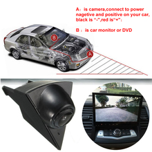 방수 CCD 차 앞 뷰 Camera 대 한 Volkswagen Golf 5 Polo Passat B5 B6 엠 블 럼 Logo Auto Driving Dash 카메라