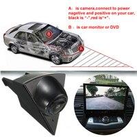 Otomobiller ve Motosikletler'ten Araç Kamerası'de Volkswagen Golf 5 Için su geçirmez CCD araç ön görüş kamerası Polo Passat B5 B6 Amblem Logo Oto Sürüş Dash Kamera