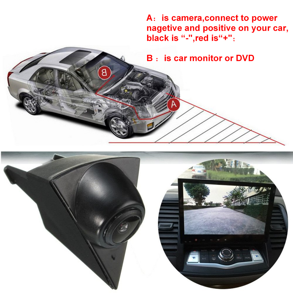 Waterproof CCD Car Front View Camera For Volkswagen Golf 5 Polo Passat B5 B6 Emblem Logo Auto Driving Dash Camera