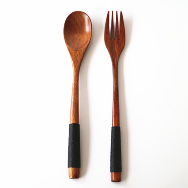 2PC Tableware Wooden Spoon Bamboo Kitchen Cooking Utensil Tool Soup Teaspoon L cooking gadgets