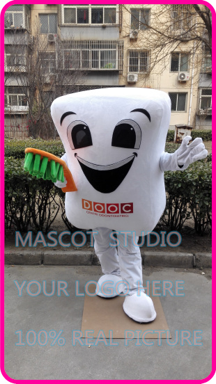 mascot tooth teeth toothbrush mascot costume custom fancy costume anime cosplay kits mascotte cartoon theme fancy dress image