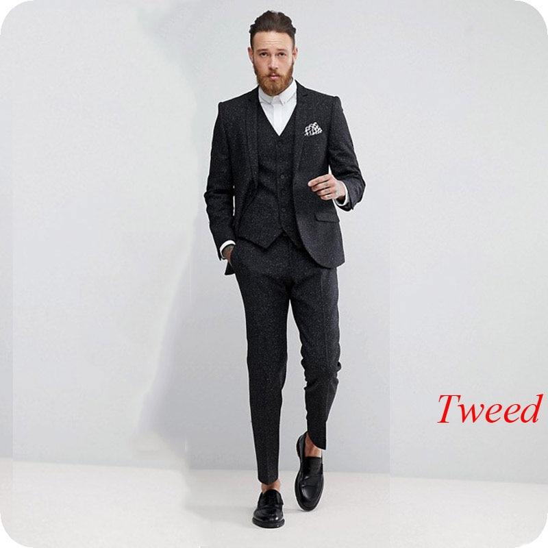 Terno Hommes Revers Fumer Masculino Sommet Blazer Mâle Classique De Et Veste Mesure A Image Noir Sur Tweed Costume Blanc Fait As Atteint Un as Fit Image Slim EwqHRcnpPR