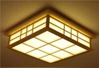 Дистанционное управление гостиная спальня современные светодиодные потолочные светильники японский диммерный светодиод для потолка ламп
