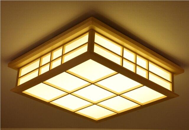 Fernbedienung Wohnzimmer Schlafzimmer Moderne Led Deckenleuchten Japanischen Dimmen Deckenleuchte Holz Innenbeleuchtung Dimmbare