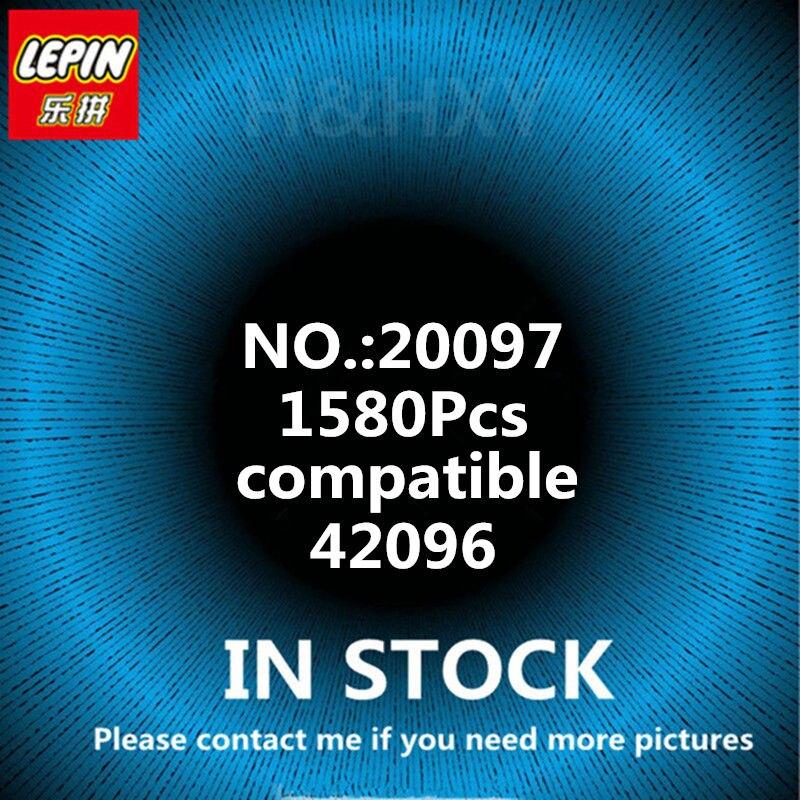 En stock LEPIN 20097 1580 pièces Technique Blanc Super voiture de course Modèle blocs de construction Briques Jouets pour Enfants Compatible 42096