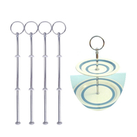 8 Sets Of 2 Or 3 Tier Round Metal Fruit Cake Plate Stands Display Holders Handle