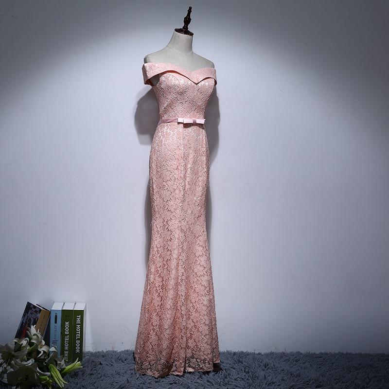 Elegant mama de rochii de mireasa de pe umăr Bow Floral Lace Mermaid - Rochii de seară de nuntă - Fotografie 3