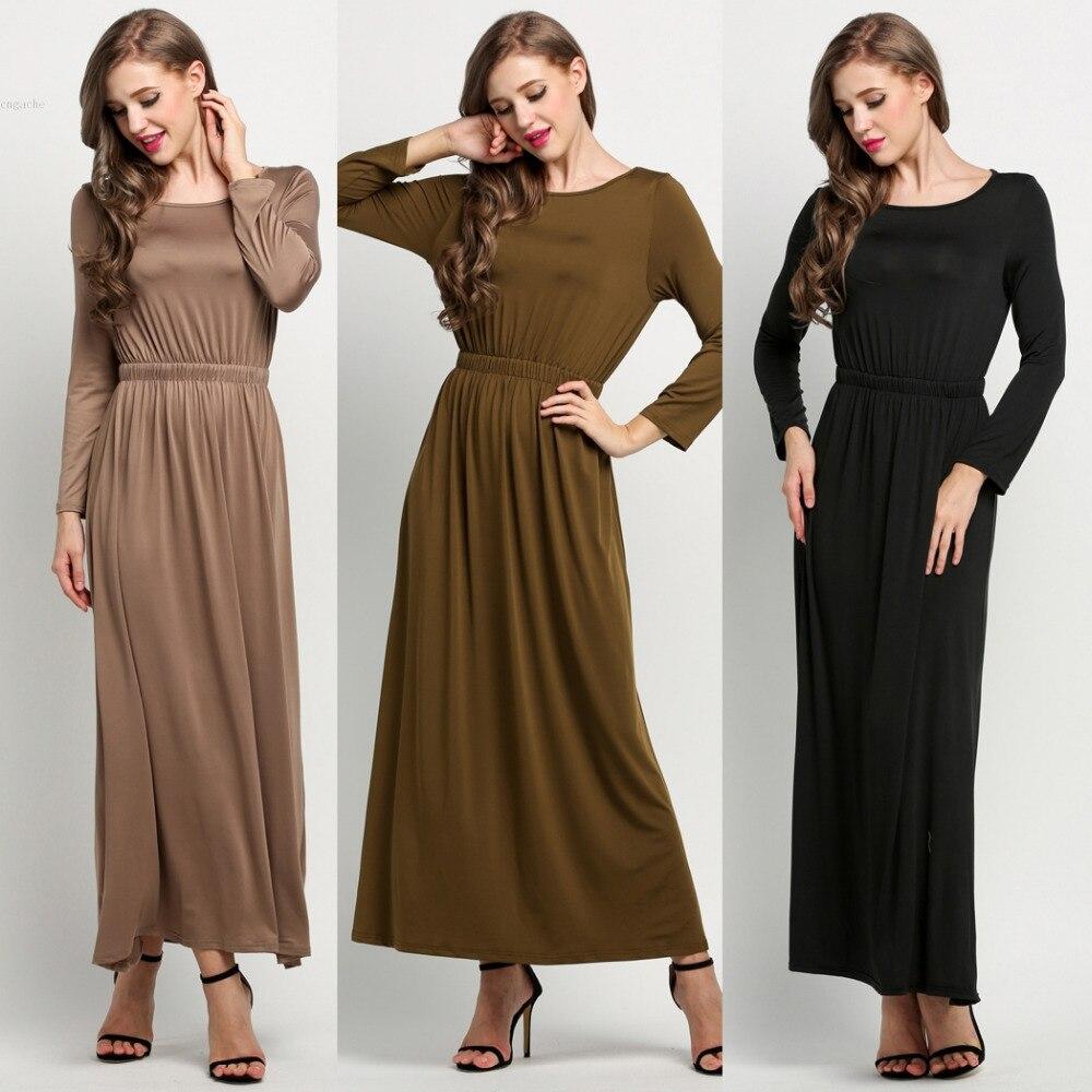 Aliexpress.com : Buy 4 Colors Women Long Sleeve Maxi Dress Evening ...