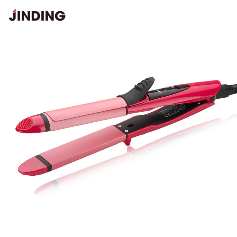 2 In 1 Curling Iron Hair Curler Care Styling Tools Straightener Irons Ceramic Wave Roller Magic Flat Iron Hair Styler 100-240V 4 in 1 hair flat iron ceramic fast heating hair straightener straightening corn wide wave plate curling hair curler styling tool