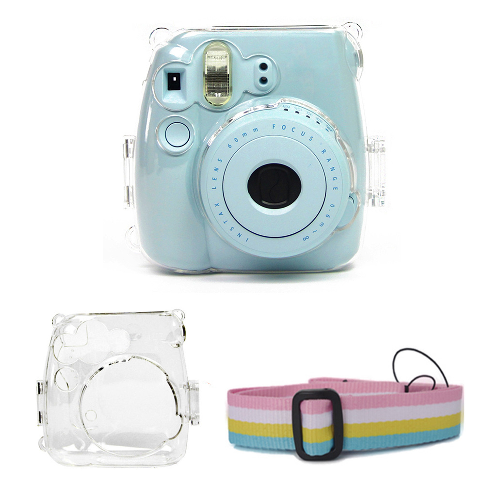 Pouch Case-Cover Shoulder-Strap Protective Instant-Accessories Crystal Transparent Fujifilm title=