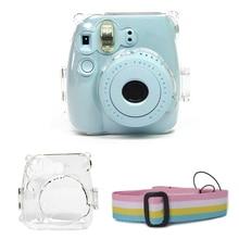Kristal Transparante Beschermhoes Cover Pouch Schouderband voor Fuji Fujifilm Instax Camera Mini 9 8 8 + Instant Accessoires