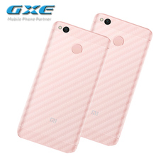 3D Carbon Fibre Skin Sticker (Not Tempered Glass)Back Protective Film For Xiaomi