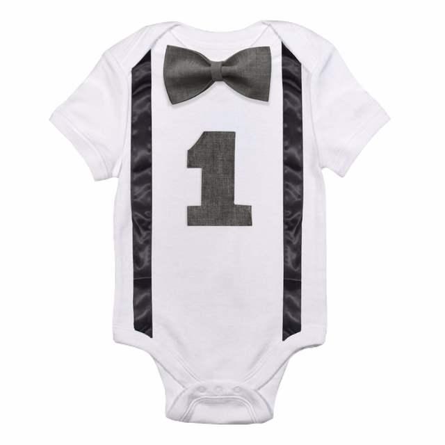 a0d27bad36 placeholder Bebé recién nacido Ropa de niño de bebé mono tirantes corbata  poco Caballero trajes Primer Cumpleaños