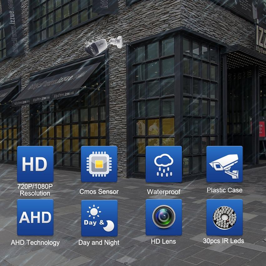 Samr AHD Camera HD 720P 1080P Surveillance Camera CCTV Bullet Outdoor Home Video Camera 30PCS Infrared LEDs IR-CUT Filter