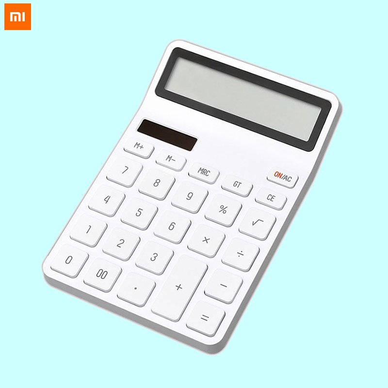 Xiaomi Mijia KACO LEMO Desktop Calculator Photoelectric Dual Dive 12 Number Display Intelligent Shutdown For School Office Home