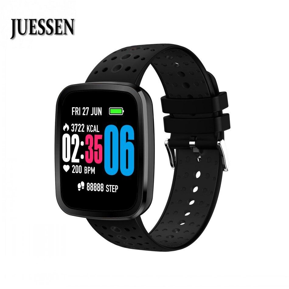 JUESSEN V6S Smart wristband monitor de ritmo cardíaco Fitness tracker pulsera sangre oxígeno Monitor de presión para iPhone IOS Android