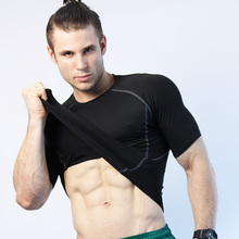 Quick Dry Men Compression Tennis Jersey Tight Fitness Tank Gym Training Short