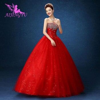 AIJINGYU 2021 elegant new hot selling cheap ball gown lace up back formal bride dresses wedding dress WK836 - sale item Wedding Dresses