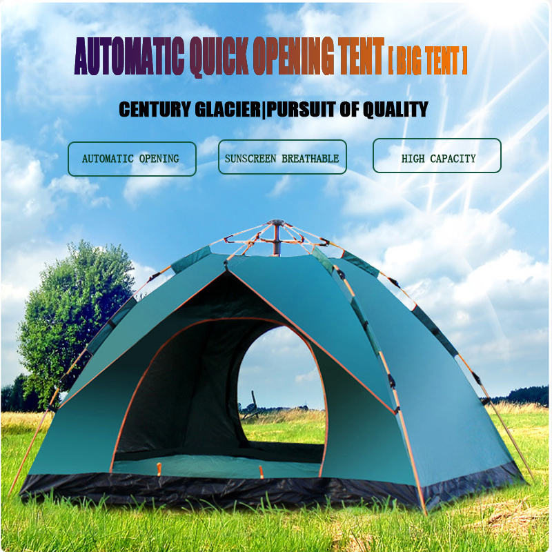 2019 Tents 1 4 People Fully Automatic Tent Camping Beach Spring Speed Easy Open Outdoor Family