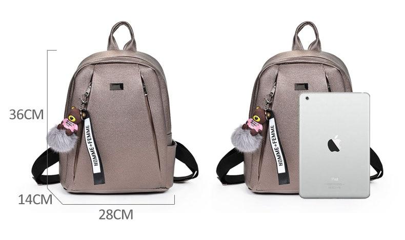 HTB1L7i4a5YrK1Rjy0Fdq6ACvVXag Fashion Gold Leather Backpack Women Black Vintage Large Bag For Female Teenage Girls School Bag Solid Backpacks mochila XA56H