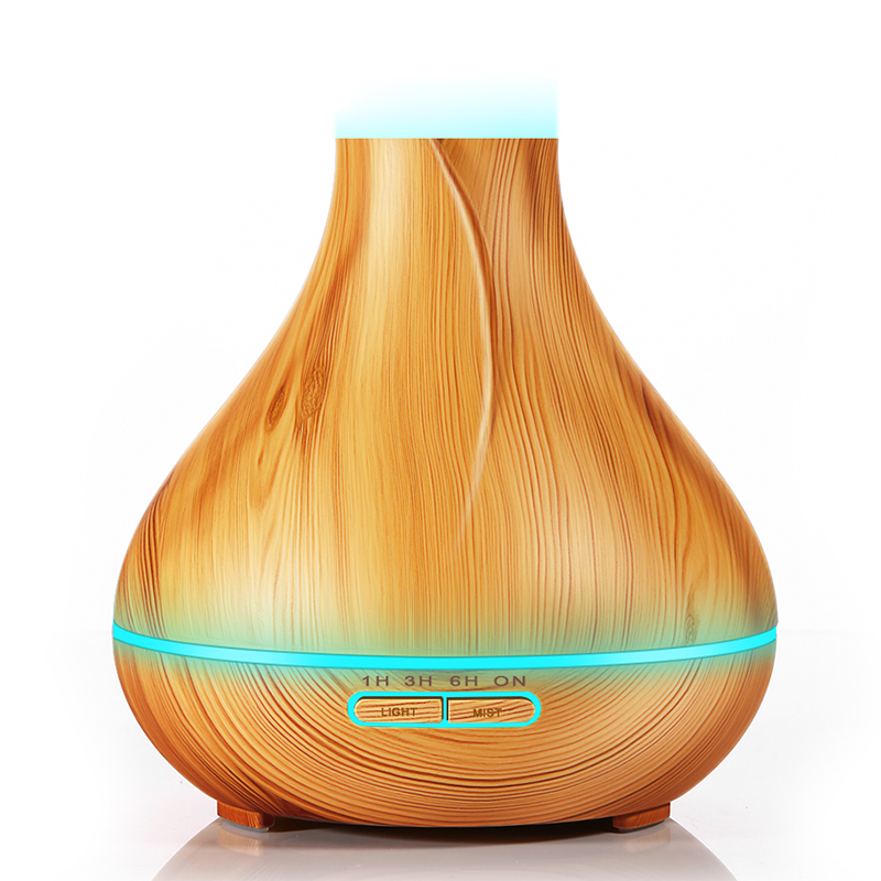 400ml Aromatherapy Essential Diffuser 7 LED Color Options Ultrasonic Air Humidifier Atomizer Wood Grain Cool Mist Maker For Home400ml Aromatherapy Essential Diffuser 7 LED Color Options Ultrasonic Air Humidifier Atomizer Wood Grain Cool Mist Maker For Home