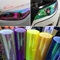 30 см * 1 м блестящий хамелеон авто стайлинг фары задние фонари полупрозрачная пленка оказалось изменение цвета автомобилей палочки