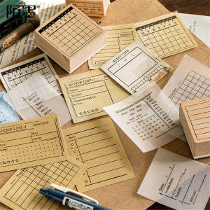 Rubber-Stamps Journal-Supplies Scrapbooking Bullet Wooden for Planning Efficiency-Seal