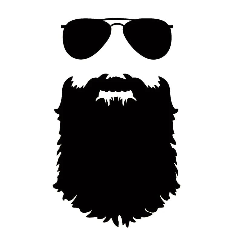 steampunk Hipster 140x85mm Lunettes /& Moustache autocollant geek
