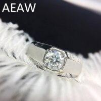 100% 14K 585 Gold Moissanite Diamond man Ring D color VVS