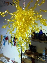 Free Shipping Latest Design Home Office Workshop Art Decor Yellow Modern Chandelier