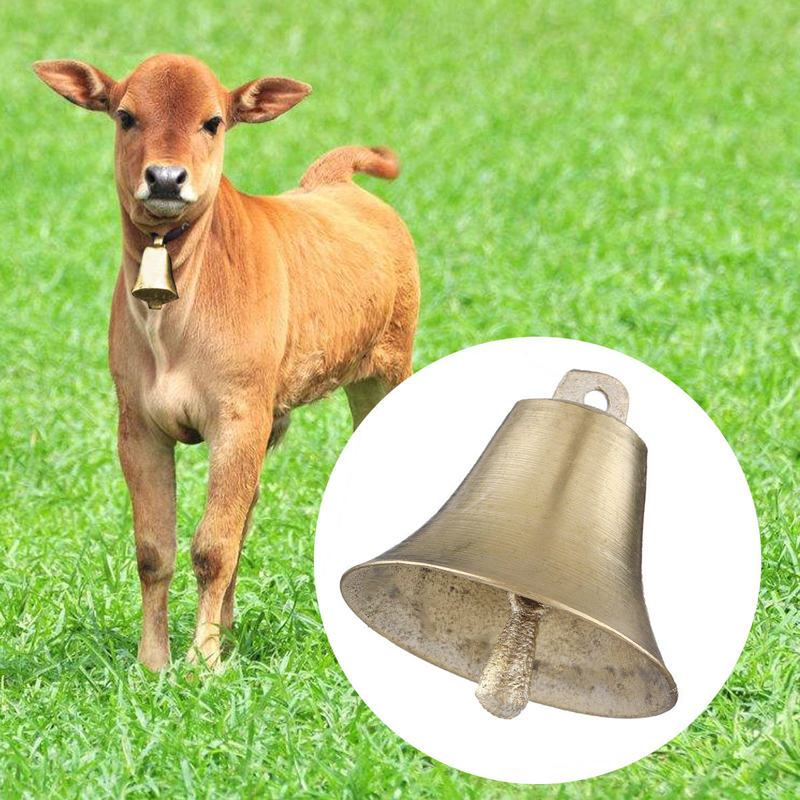 1PCS Sheep Copper Bells Livestock Animal Husbandry Copper Bells Sound Loud Brass Bell Cow copper Bells Loud Crisp Farther-in Chimes from Home & Garden