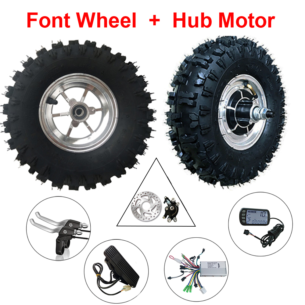 13 inch Ebike Motor Wheel Conversion Kit 13'' Off-Road Electric Wheel Hub Motor 24-48v 350W-800W 12-50km/h With Foot Accelerator 14 5 800w 36v electric wheel hub motor electric bike motor electric longboard skateboard wheel hub motor
