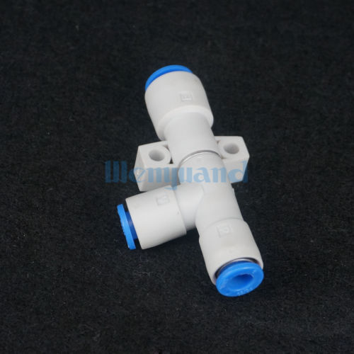 ZH10DS-06-06-08 Quick Connector Pneumatic Air Exhaust Vacuum Ejector Body Ported Type Without Silencer scv 20 rc1 4 vacuum ejector smc type vacuum generator