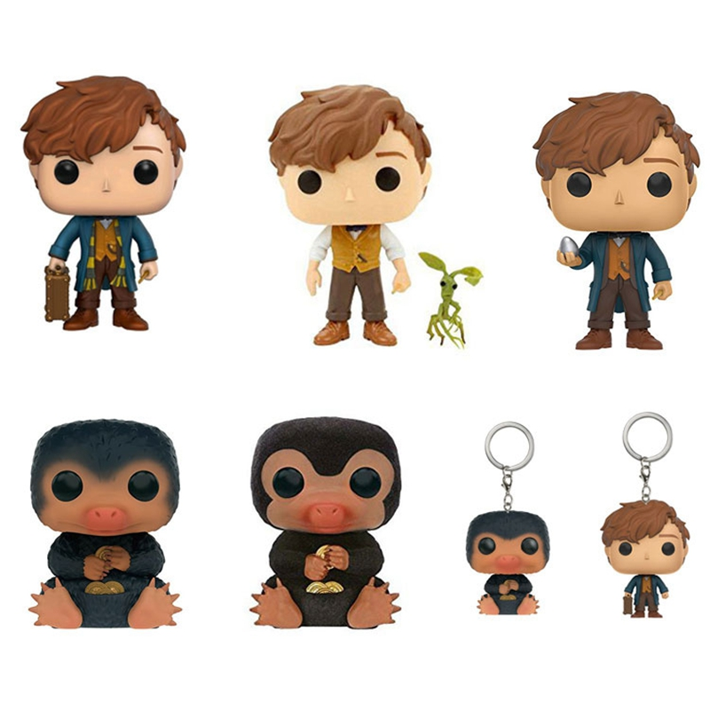 10cm Fantastic Beasts and Where to Find Them Newt POP Action Figure Toys Doll For Baby Kids Christmas Gifts NO BOX