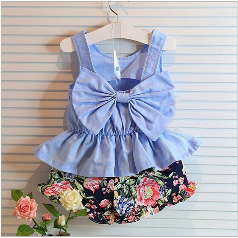Child Women Clothes Units 2018 New Summer time O-Neck Sleeveless T-Shirt+Pants 2 Pcs Youngsters Clothes Units Youngsters Clothes women clothes, youngsters clothes, kids clothes,Low cost women clothes,Excessive High quality...