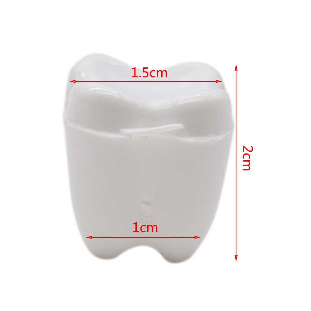 Kolorowe dziecko zęby zęby mleczne pudełko fałszywe ząb skrzynka protezy akcesoria zęby mleczne organizator przechowywania uratować pamiątkowe CaseBaby