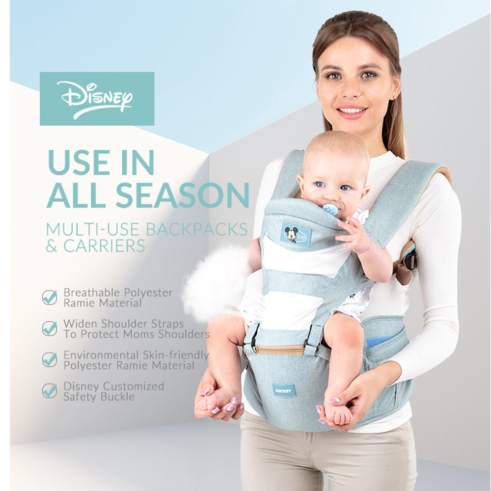 Disney Baby Waist Stool Breathable Ergonomic Carrier Portable Infant Hipseat Belt For Four Seasons Kangaroo Waist Strap ...