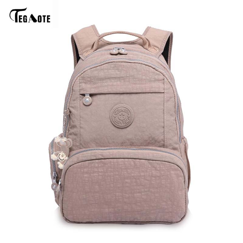 TEGAOTE Wholesale Price Nylon Waterproof Backpack Ultralight Travel Bag Men Women Backpack 15 Colors Children's School Backpacks