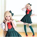 Cheap Japanese Anime Super Danganronpa 2 Sonia Nevermind Cosplay Costumes Sayonara Zetsubo Gakuen Sonia School Uniform For Women