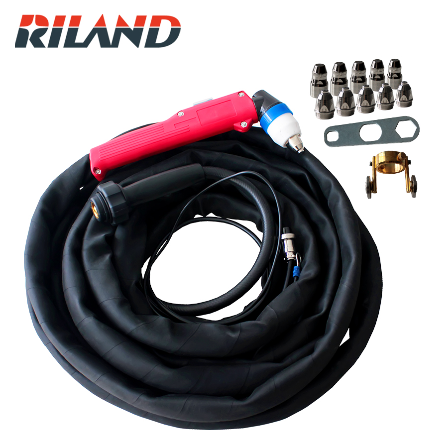 RILAND p80 Plasma Cutting Torch 5M for CUT 40 60 LGK40 60 60G 80G 100IJ Plasma Cutting machines quality assurance panasonic air plasma cutting accessories reasonable price tips plasma electrodes