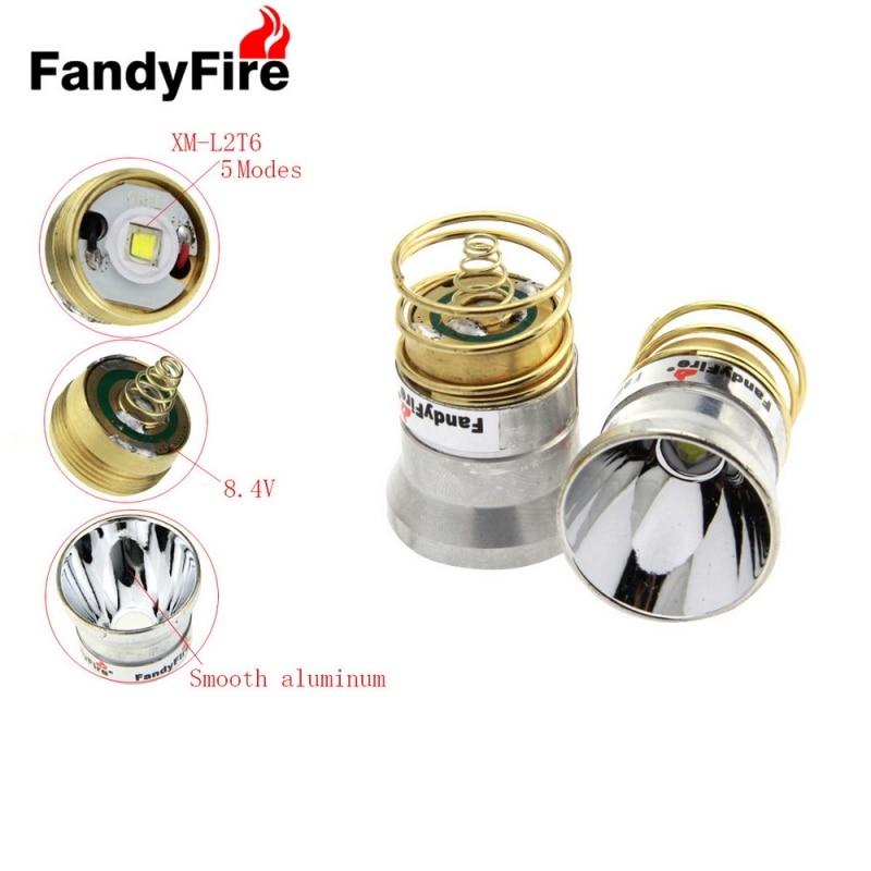 26.5mm 5 Modes Plug-in Style 501B / 502B C2.504B Module W / OP Reflector for Flashlight Silver & Golden aluminum smooth flashlight reflector silver