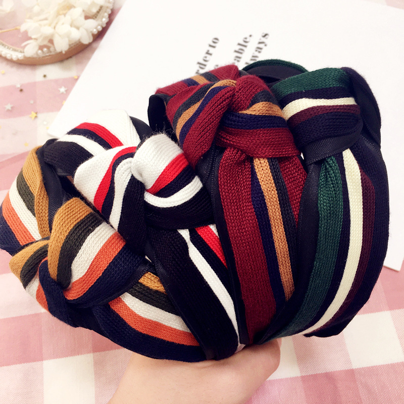 Strong-Willed Korea Fabric Tie Knot Hair Bands Rabbit Ears Hairband Flower Crown Headbands For Girls Hair Bows Hair Accessories D Apparel Accessories