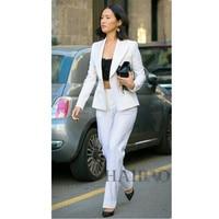 Women's Suit Long Sleeve Suit Pants College Students Interview Slim temperament business two piece set suit two buttons
